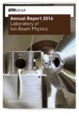 Laboratory of Ion Beam Physics ETH Annual Report 2016